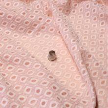 Peach Assymetric Design Lace Fabric 150cm Wide